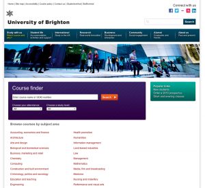 University of Brighton Courses Search System