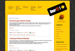 Door22 website WordPress CMS