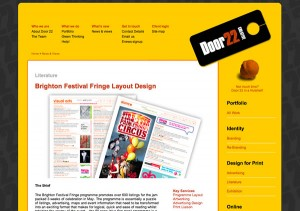 Door22 website portfolio WordPress CMS