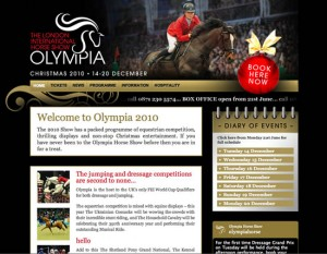 Olympia Horse Show WordPress Website