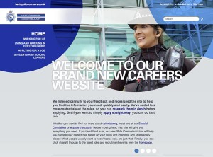 Herts Police recruitment website