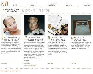 Dutch National Institute of Interior Design, WordPress CMS website